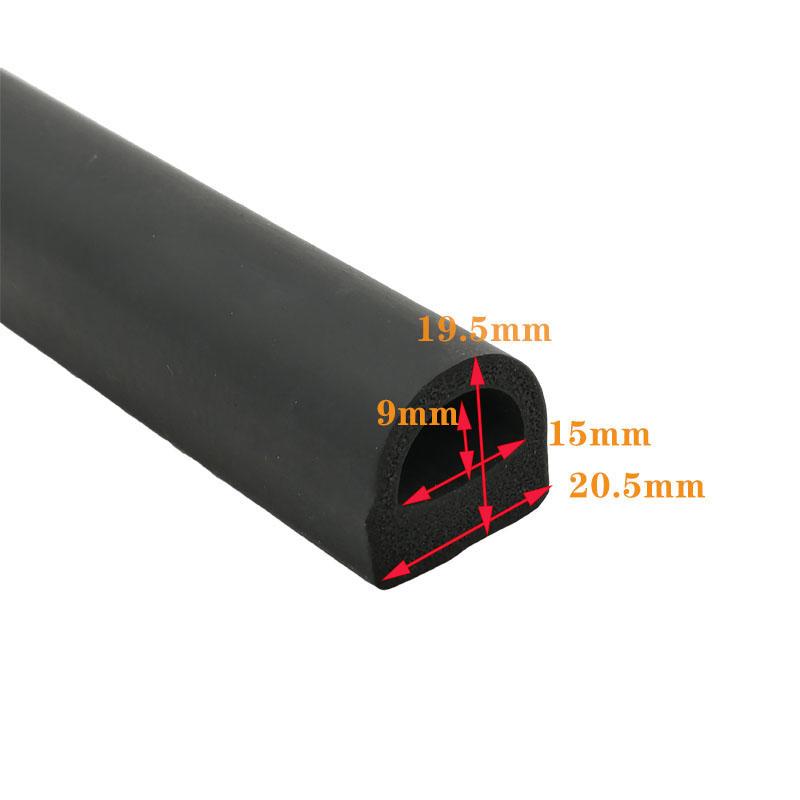 D shape EPDM head resistant vulcanized Sponge rubber seal
