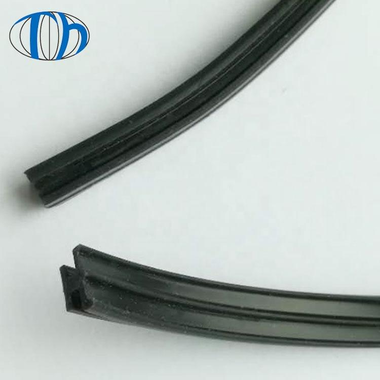 Sound proofblack color glassrubber strips silicone rubber strip for window