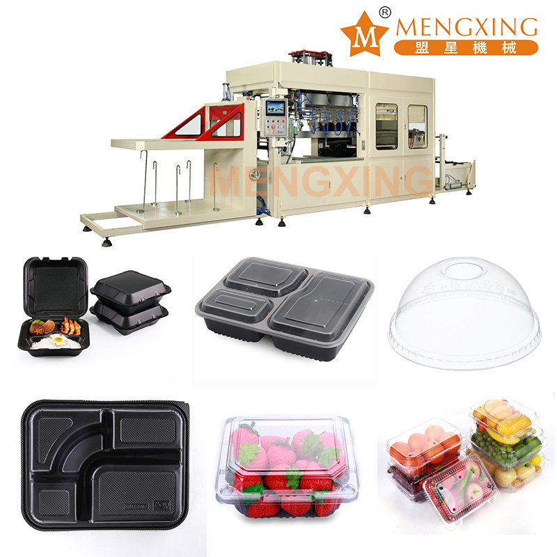 Automatic Vacuum Forming Machine Tray Mengxing Direct Manufacture Fast Food Box Egg Biscuit Fruit Tray Thermoform Machine Price Plastic Tray Making Machine