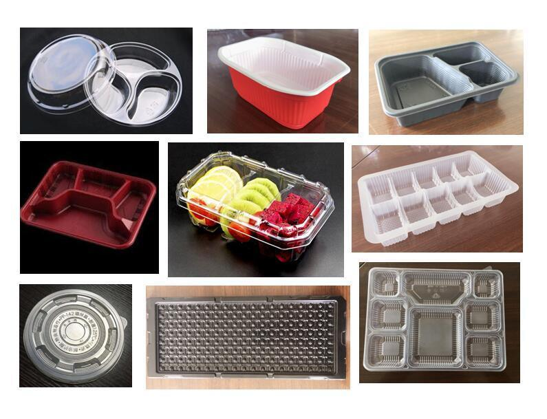 High Speed Vacuum Forming Machine for Disposable Plastic Box, Tray, Bowl