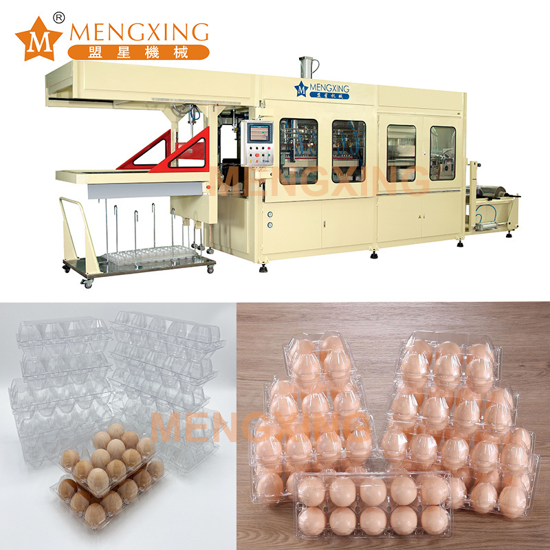 High Speed Plastic Food Tray Vacuum Forming Machine Touch Screen Egg Tray Vacuum Forming Equipment Vacuum Blister Machine
