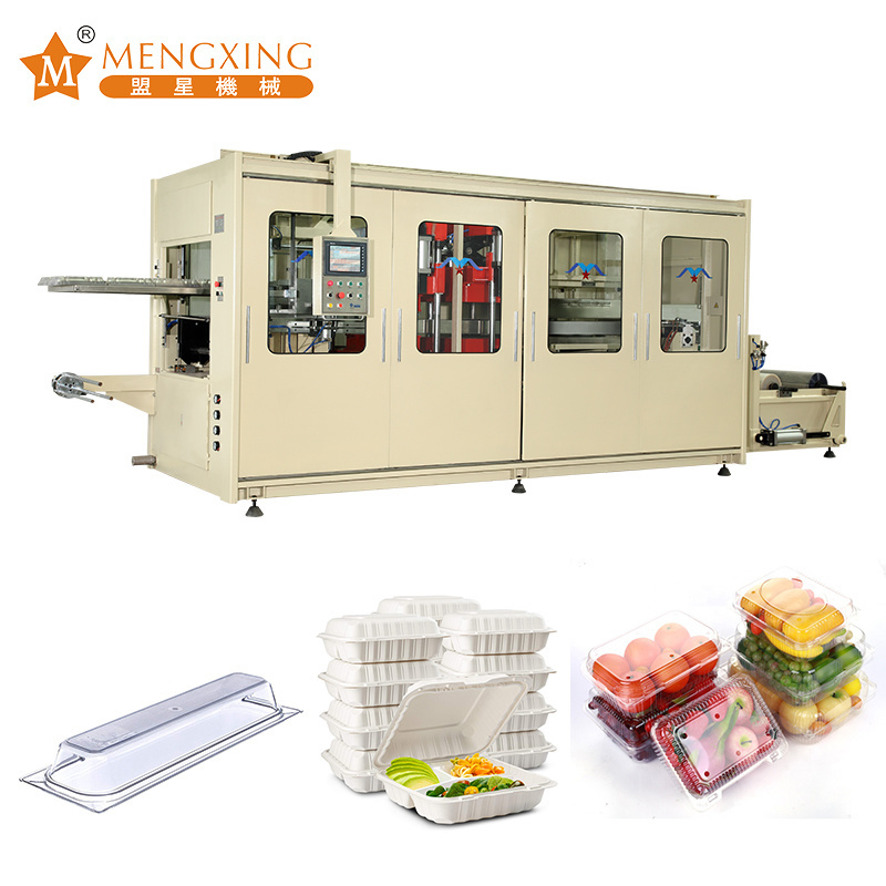 Three Station Automatic Thermoforming Machine High-Speed Vacuum Pressure Forming Machine Plastic Negative Pressure Moulding Machine