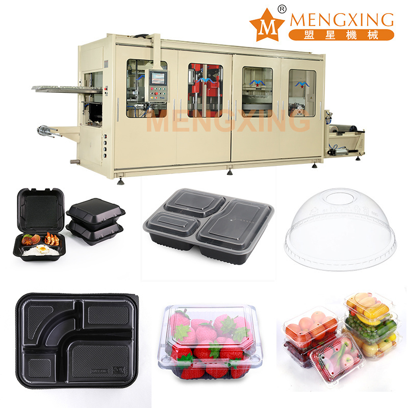 Automatic Plastic Food Box Cover Container Lids Food Grade PP Thermoforming Making Machine Egg Tray Vacuum Forming