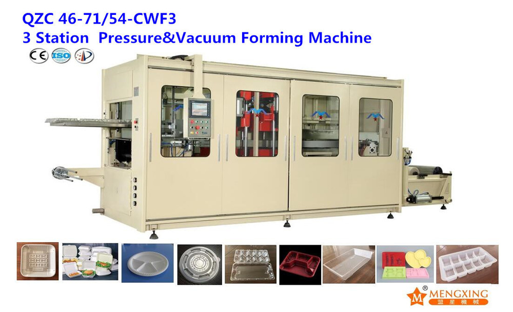 QZC 46-71/54-CWF3 Automatic High Speed Food Container Making Machine