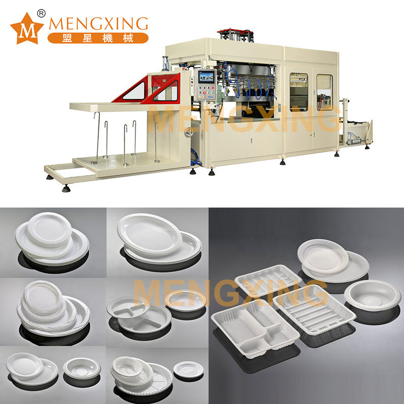 Disposable Food Dishes Machine Supplier Fully Automatic Plastic Blister Thermoforming Machine Plastic Tray Vacuum Forming Machine