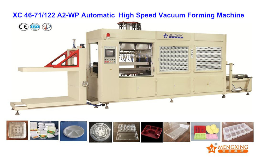 Automatic Plastic Vacuum Forming Machine for Box Lid Egg Tray (XC46-71/122/A2-WP)