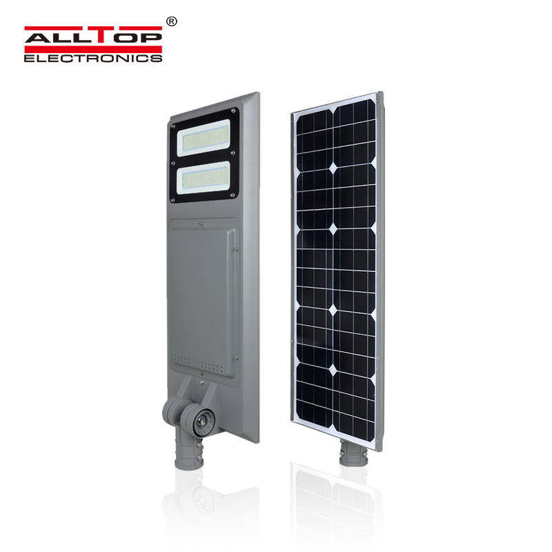 ALLTOP New design Warm White ip65 outdoor 40w 60w 100w intergrated all in one led solar street light