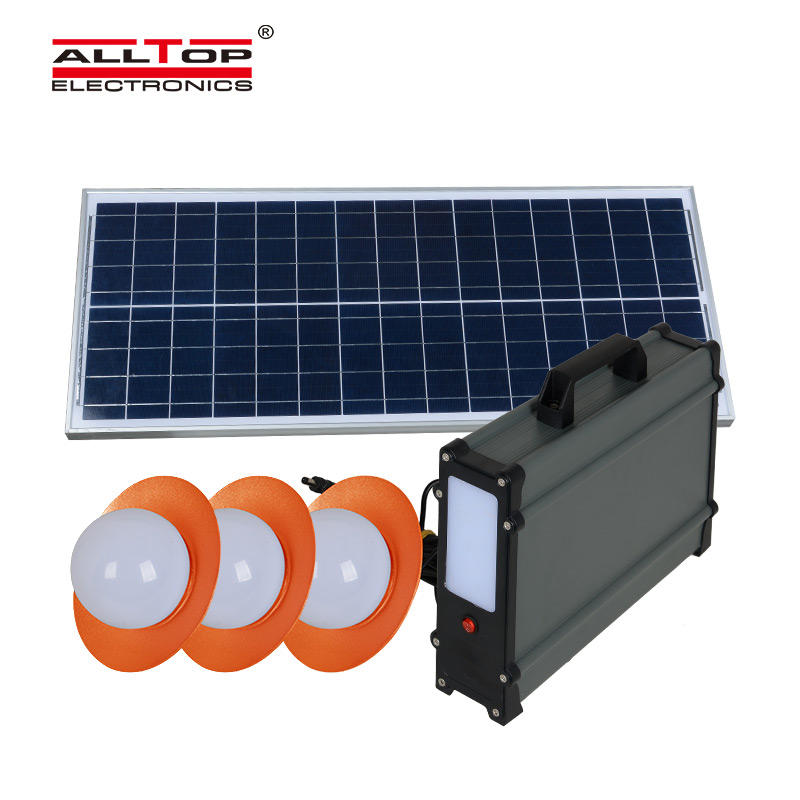 ALLTOP New design electricity generating solar lighting panel power system for home