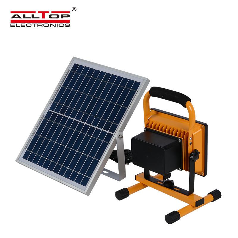 Outdoor Portable Emergency work light 10w 20w 30w 50w rechargeable solar LED Flood Light
