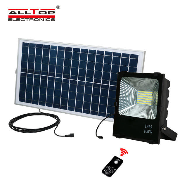Most powerful 10w 20w 30w 50w 100w IP65 outdoor waterproof manufacturing emergency slim led solar flood light