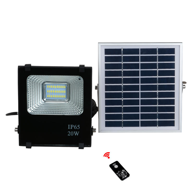 High power waterproof IP65 portable football field 10 20 30 50 100 w solar led flood light