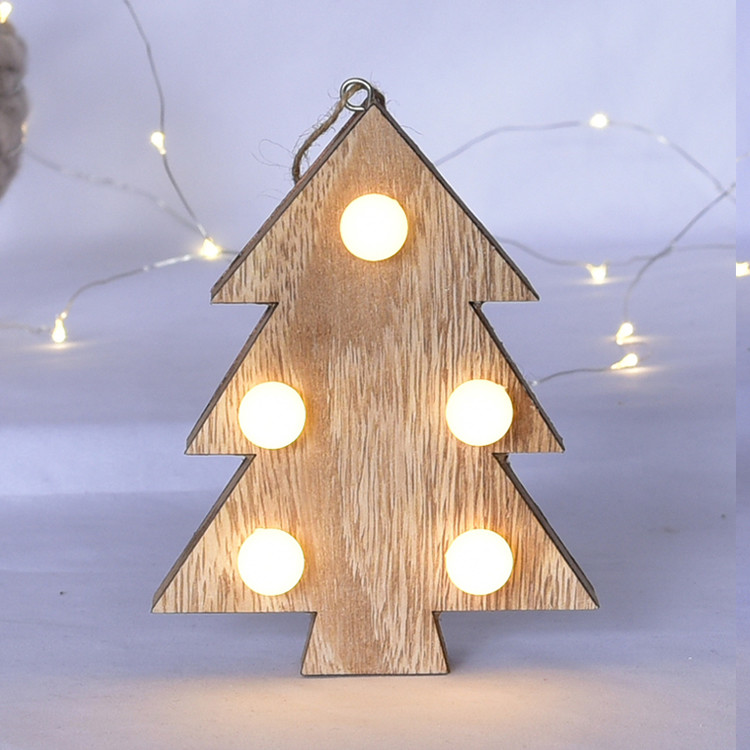 custom christmas decoration wood crafts with led light parties decors