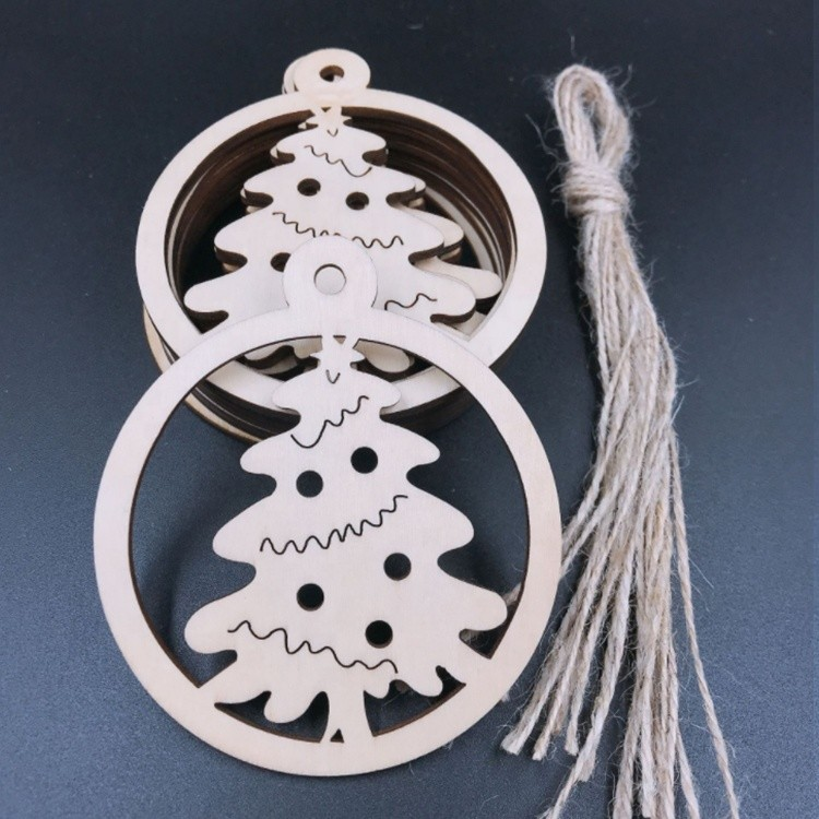 Vitalucks custom personalized wood christmas hanging ornaments home decoration