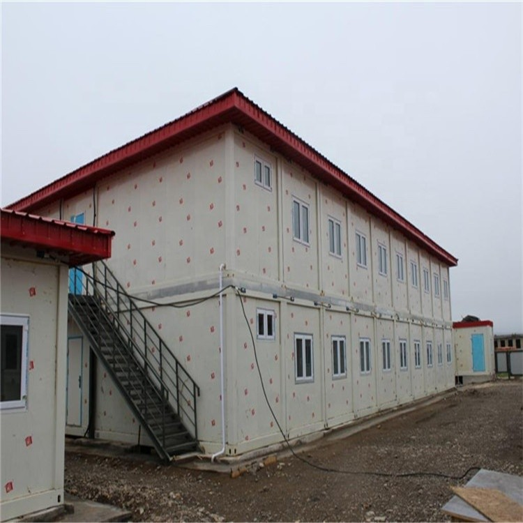 Two Storey Labour Camp Dormitory K House Luxury Steel Frame Prefab House