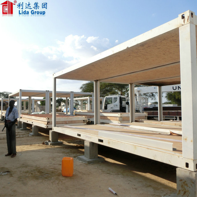 China made double storey flatpack container house/ modular house