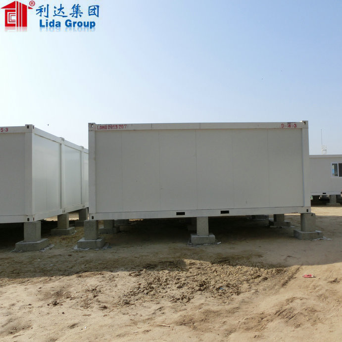 steel structure and sandwich panel wall and roof container modular house