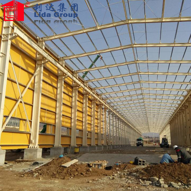 fabrication light weight steel structure warehouse function hall design