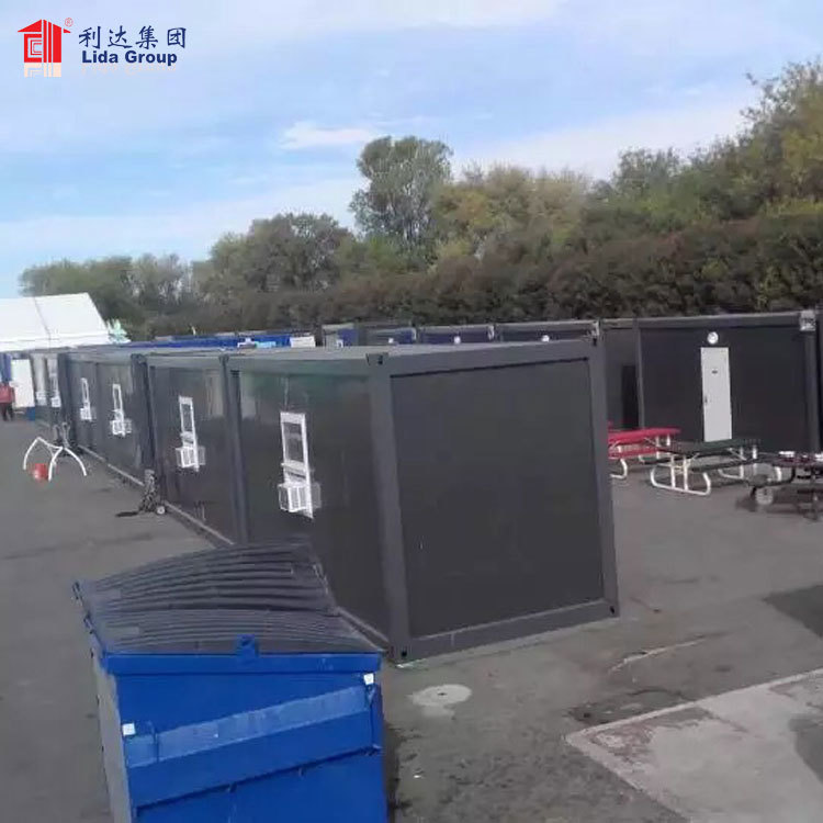 Accommodation container house of earthquake proof, temporary site facilities