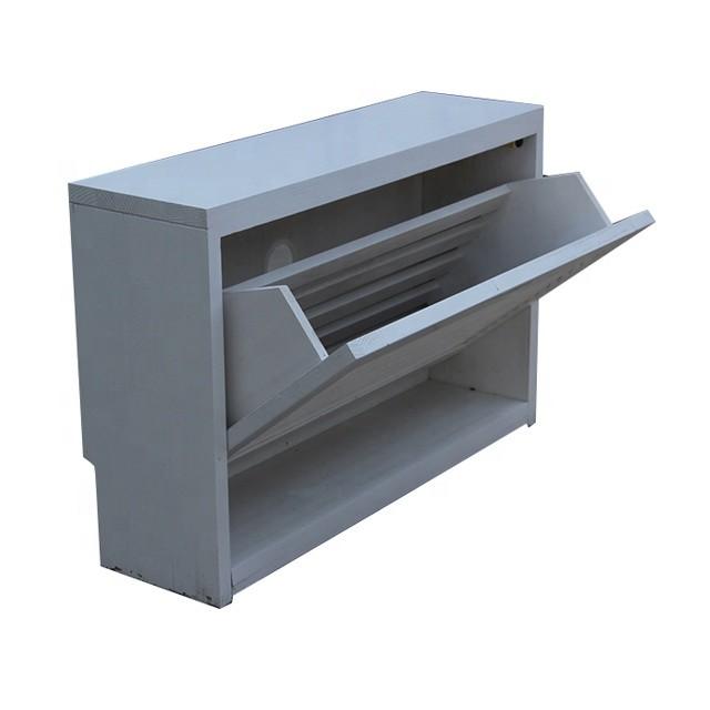 Modern style Solid teak wooden shoe rack cabinet furniture