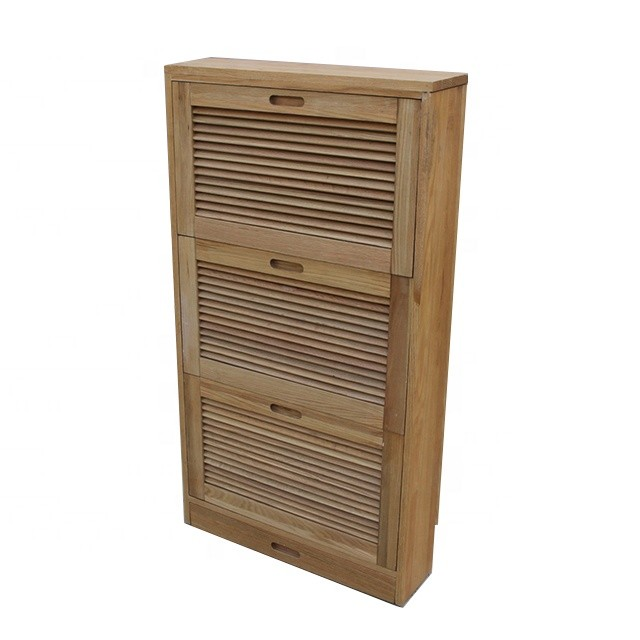 Wood furniture useful shoe rack storage cabinet design shoe ark