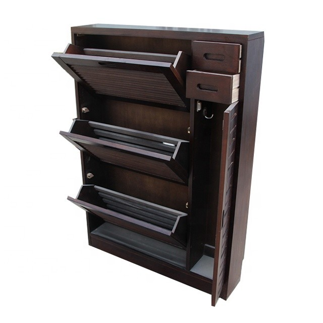 Factory price eco-friendly wooden simple design shoe display furniture cabinet