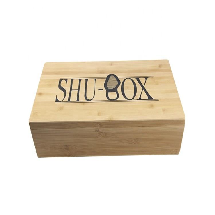 Handmade Custom Rectangle Wooden Shoe Box For Sale