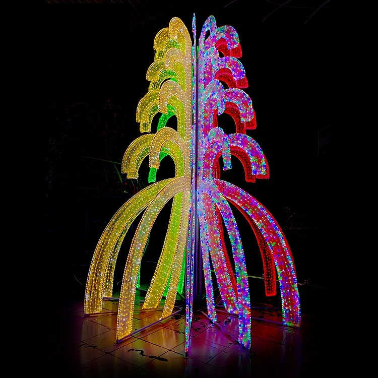 Professional Factory Custom Large Decoration RGBW Christmas Projector LED Tree Light