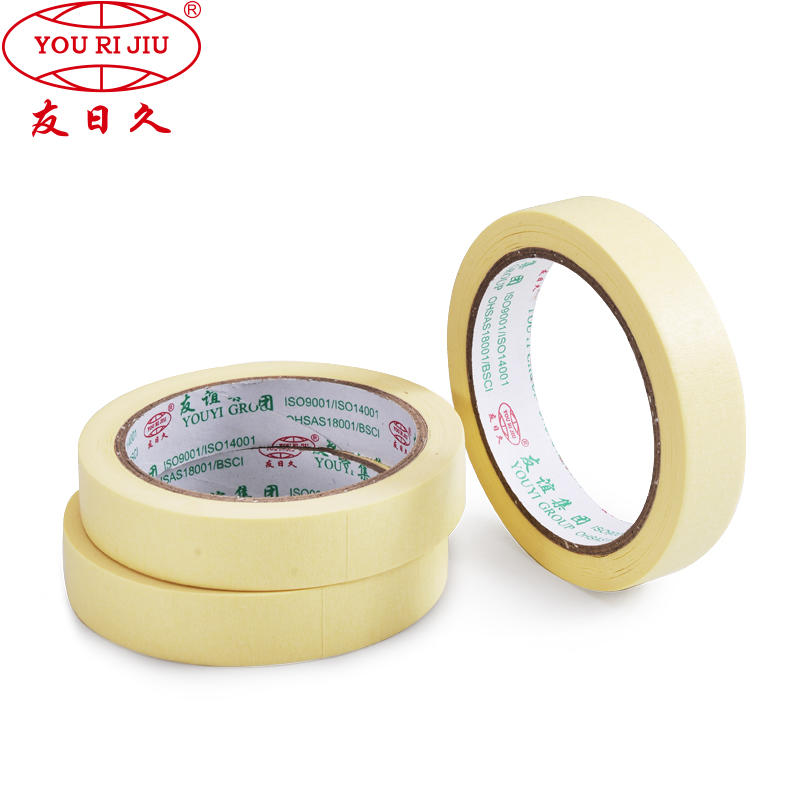 Excellent Pliability Crepe Paper Silicon Adhesion Masking Tape