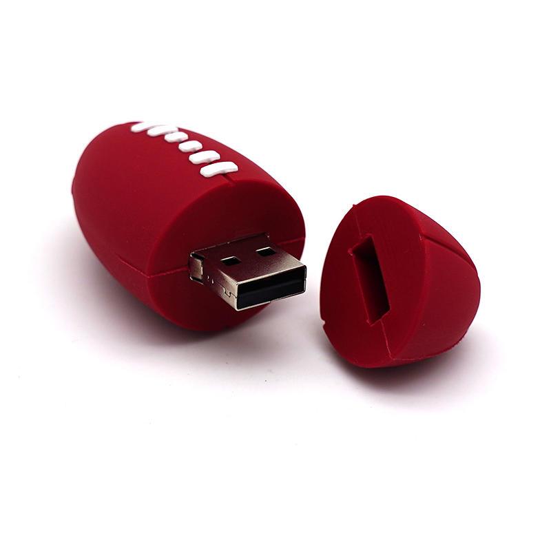 Cheap Cartoon Usb Stick High Quality Ball 16GB 32GB 64GB Usb Flash Drive Cartoon Rugby Ball U disk