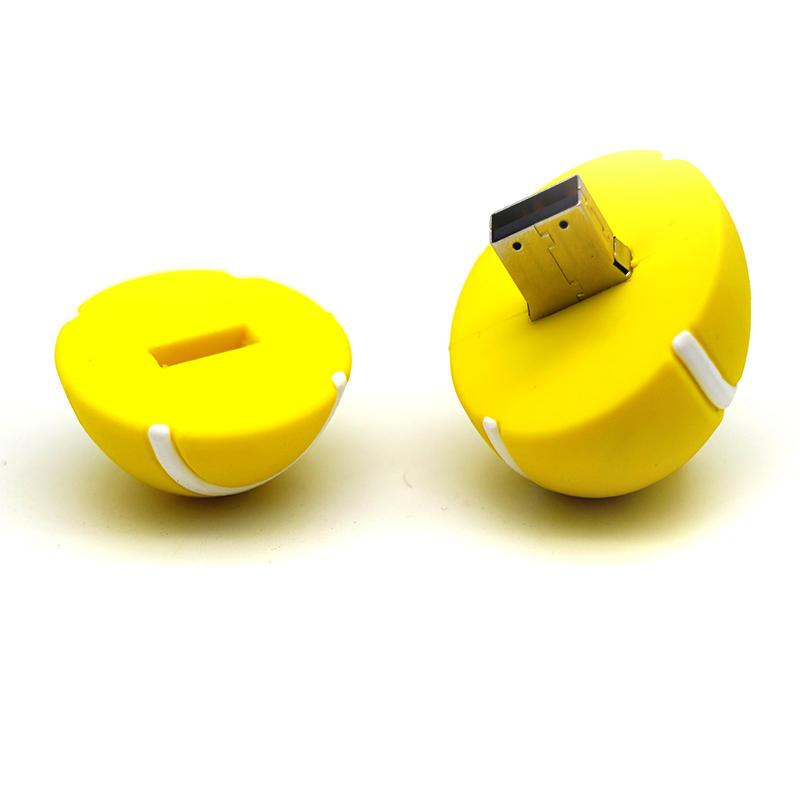 Funny Promotion sports tennis 2.0 usb Memory Stick pvc u disks gift 16gb 32gb 64gb Ball Model Flash Drive