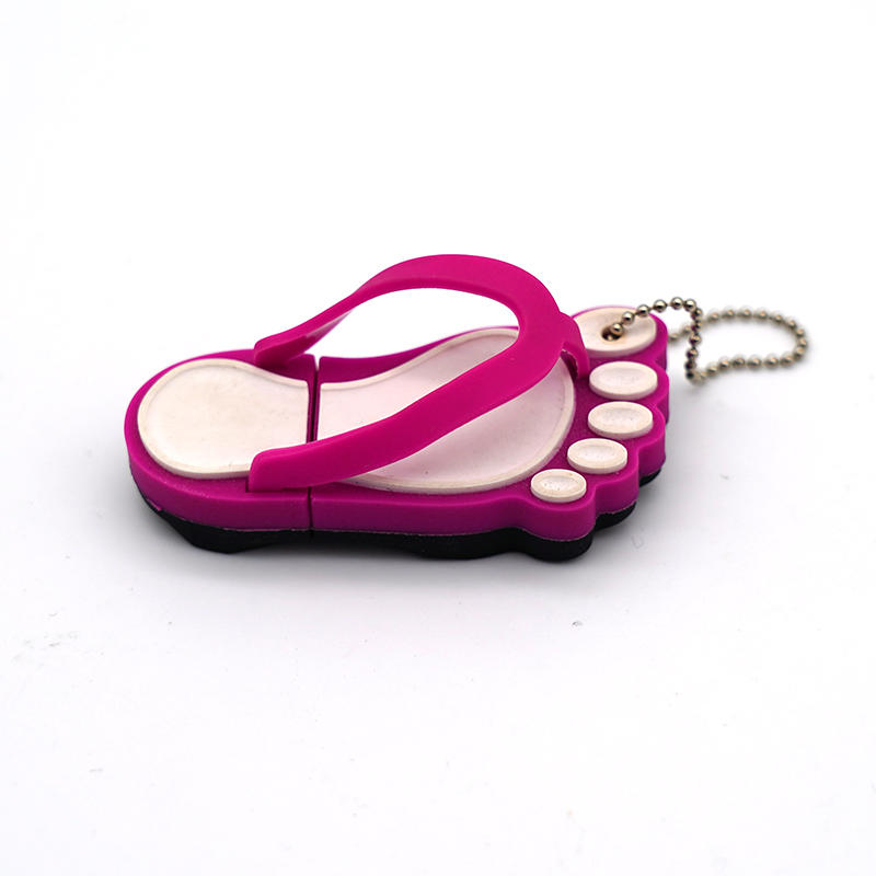 Creative custom cute Slippers shape PVC USB Flash Drive 16GB 32GB 64GB U disk