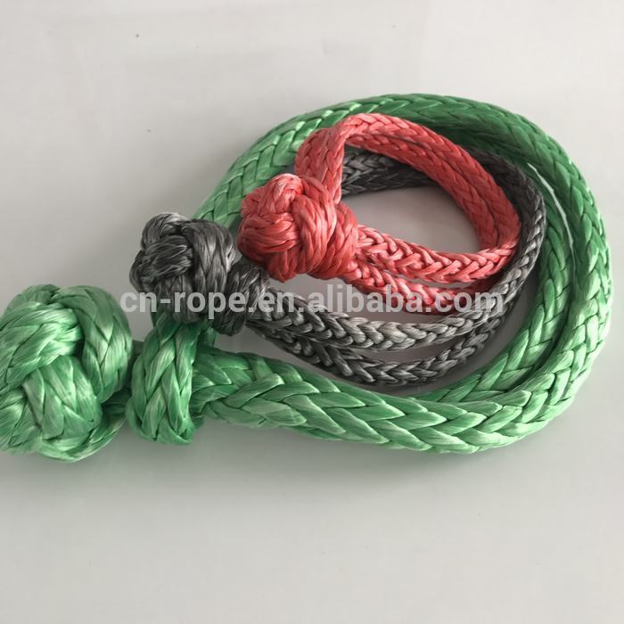 UHMWPE fiber rope soft shackle for marine hardware