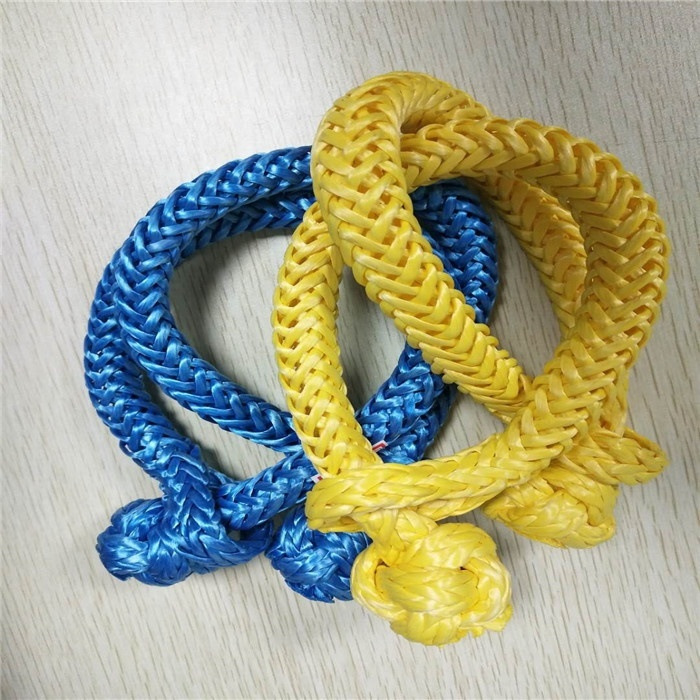 Factory Price Abrasion Resistance Synthetic Rope UHMWPE Soft Shackle