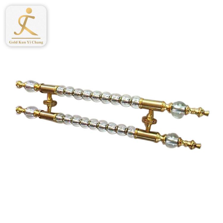 Wholesale cheap h shaped gold retro art deco antique door handles satin luxury stainless steeldoor handle