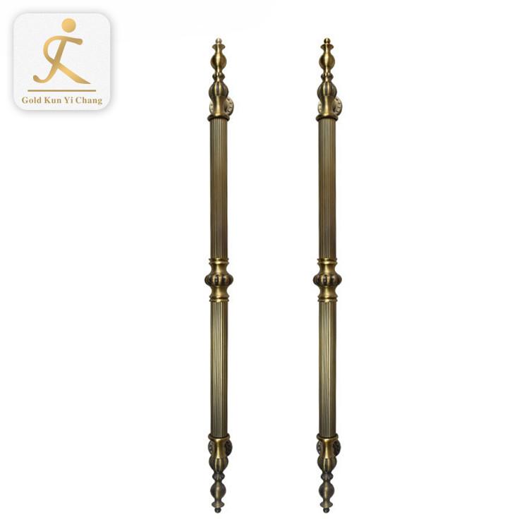 manor gate front door brushed gold metal home door handles luxury big gold color stainless steel door handle in steel