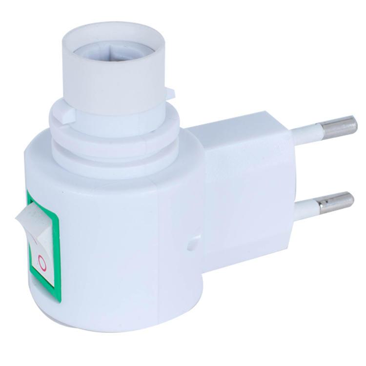 083B CE ROHS approved switch night light E12 vertical socket electrical plug lamp holder European 7W or 15W 220V 240V