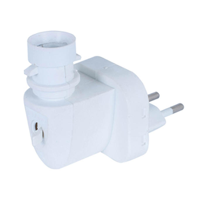 E14 CE ROHS approved sensor night light lamp socket with LED lighting plug in socket