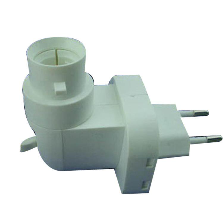 E14 base socket CE ROHS salt lamp night light electrical plug socket rotating Eu plug in 220V or 240V