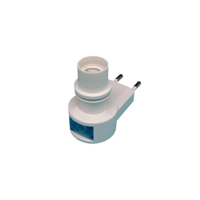 CE ROHS approved Sensor night light E12 electrical plug socket lamp holder European plug in 220V 240V