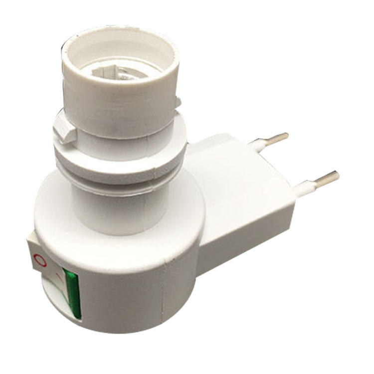 084 CE ROHS approved switch night light E12 lamp holder European electrical plug in socket 220V or 240V