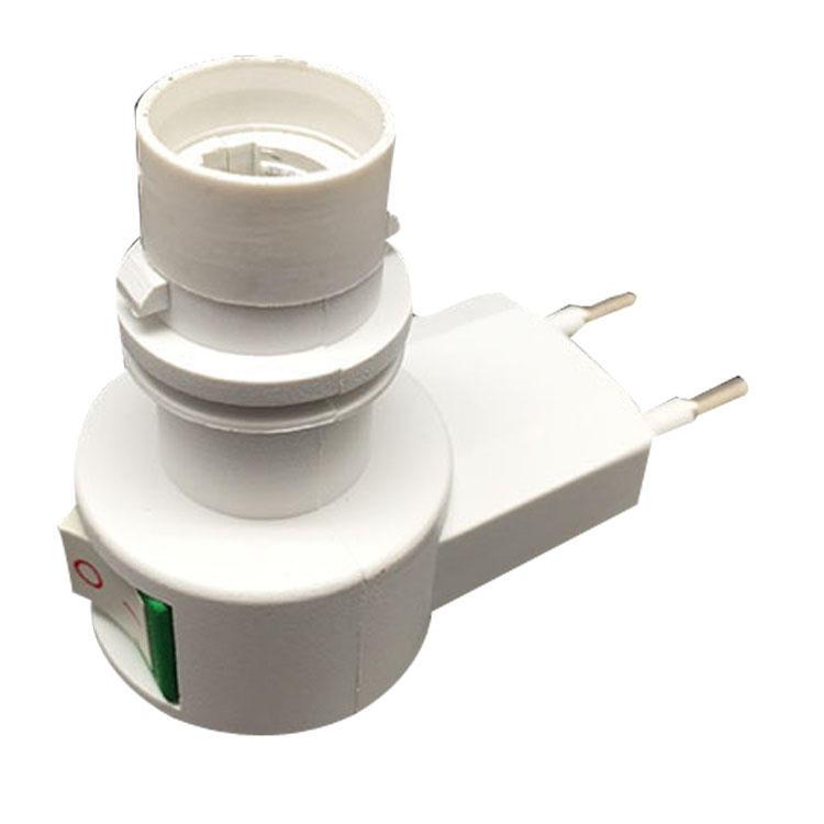 084 CE ROHS approved switch night light E12 lamp holder European electrical plug in socket 220V or 240V