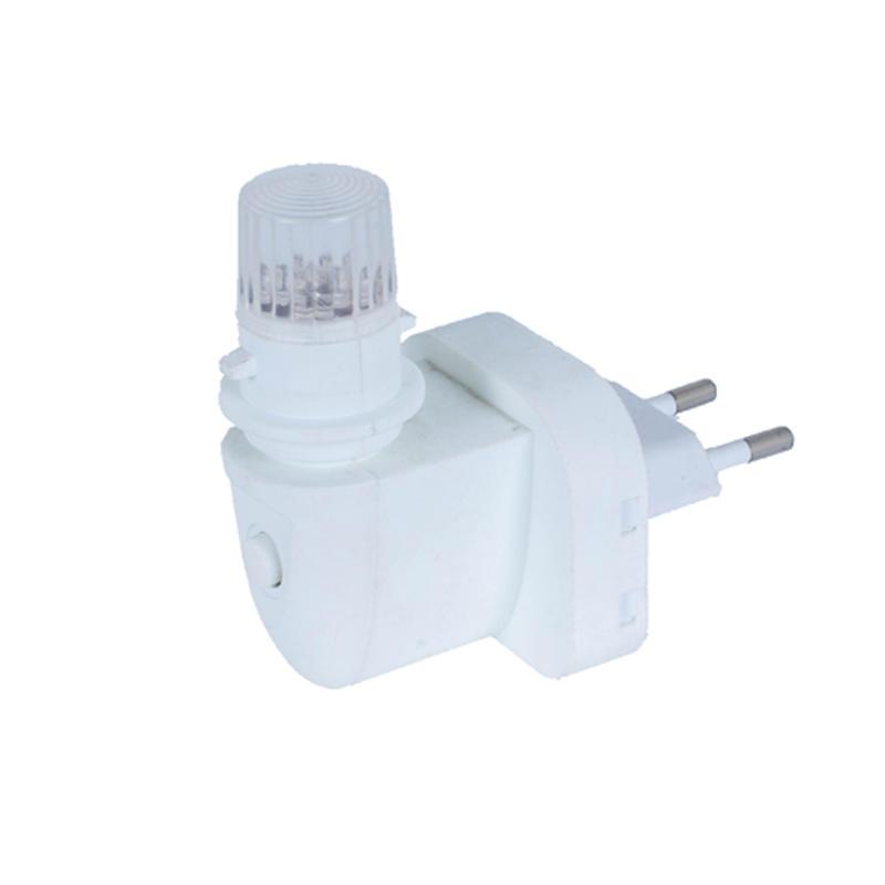 E14 rotating plug CE ROHS approved sensor night light electrical plug socket with European plug in lamp holder and 220V or 240V