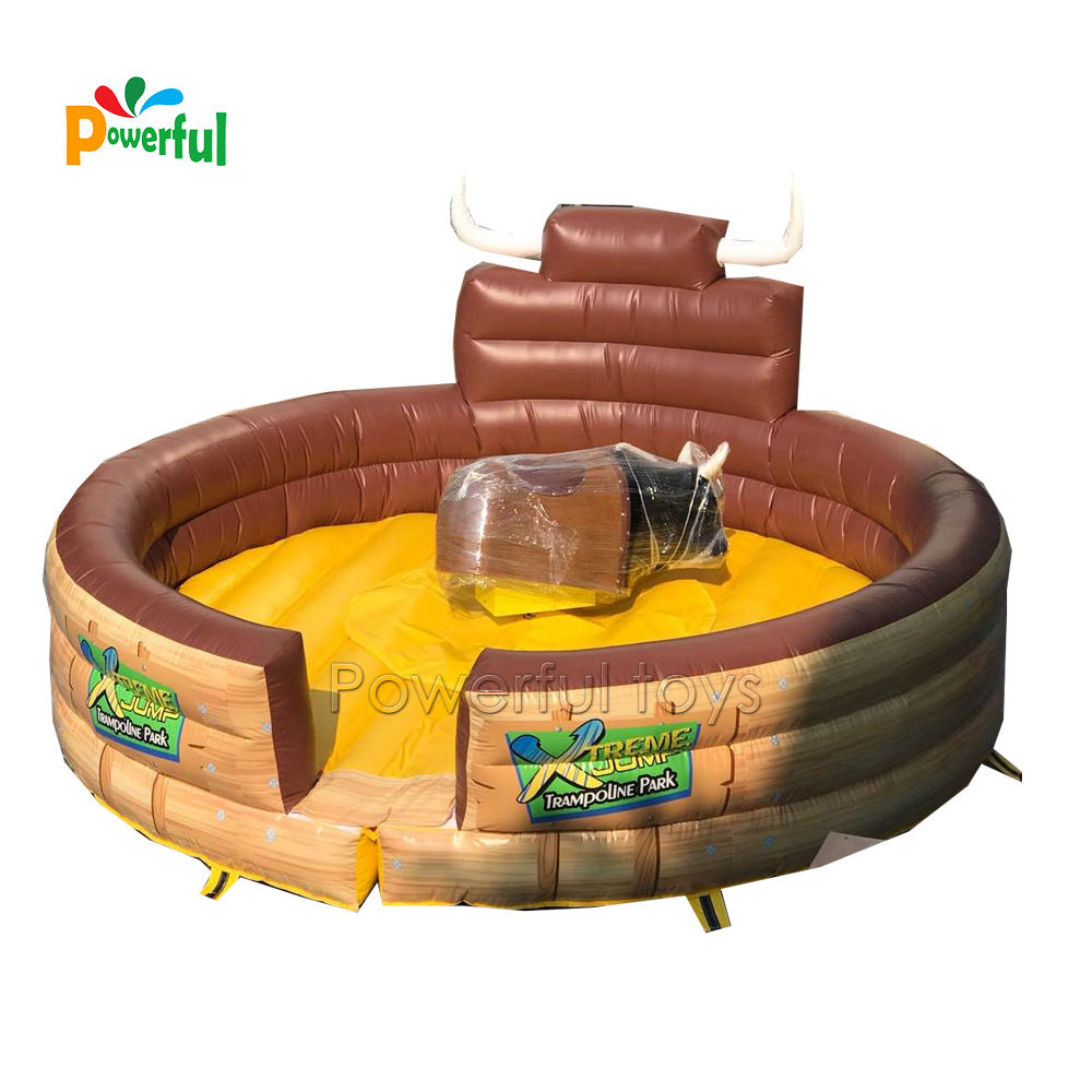 Crazy challenge game inflatable mechanical rodeo bull riding for sales