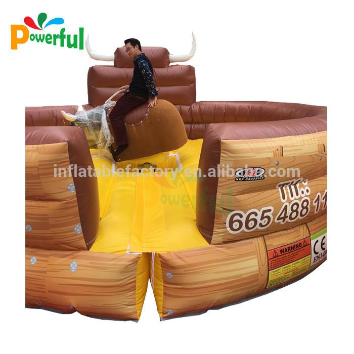 Amusement park games inflatable rodeo bull customize 5m inflatable bull riding , inflatable mechanical bull