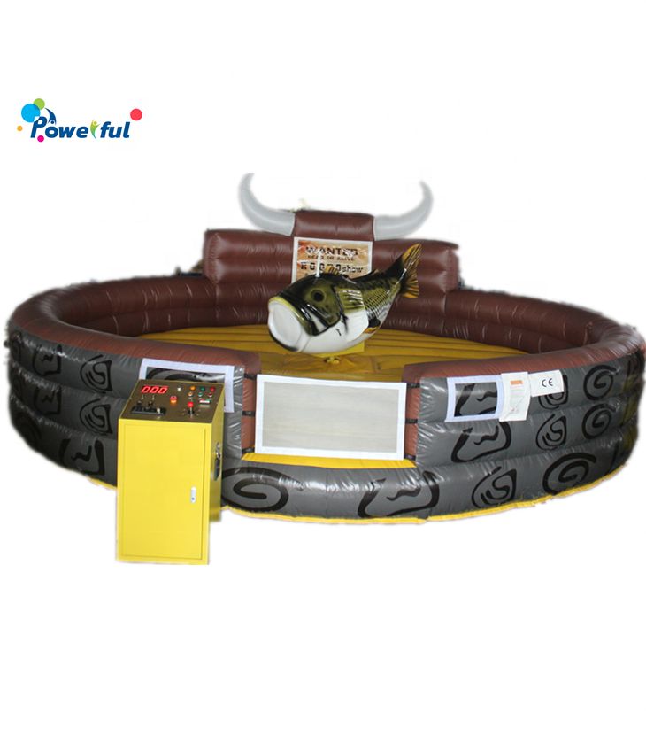Outdoor amusement park inflatable rodeo bull machine