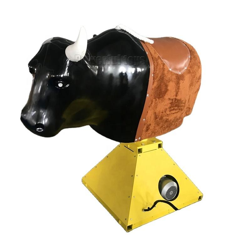 Round Amusement Park Mechanical Bull Rides machine radio bull for trampoline park