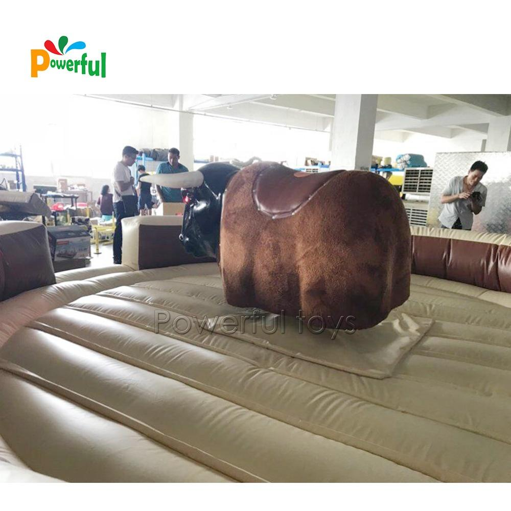 Adult Playing Inflatable Mechanical Bull , PVC Mechanical Rodeo Bull