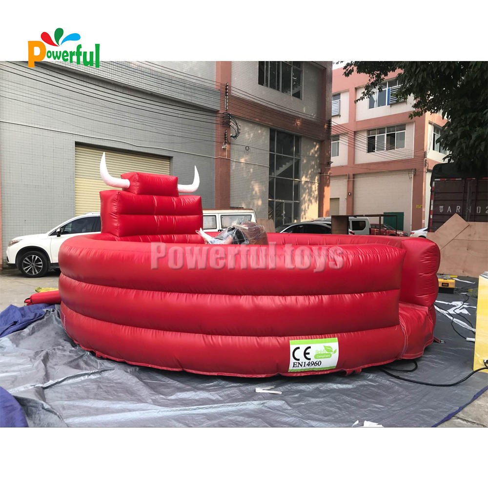 5m dia inflatable Rodeo bull game inflatable bull riding machine