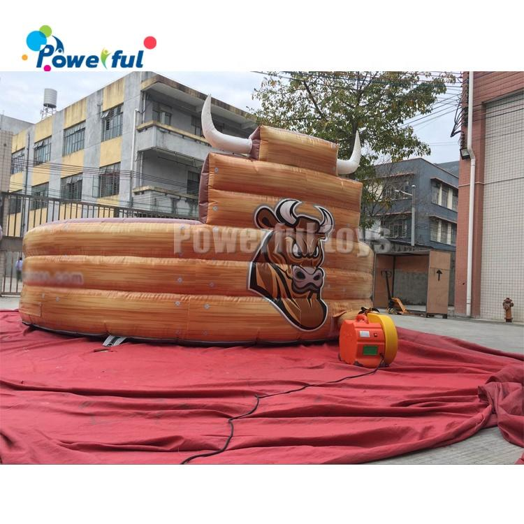 Ready to ship playground inflatable mechanical bull ride amusement park rodeo bull game ride for sale