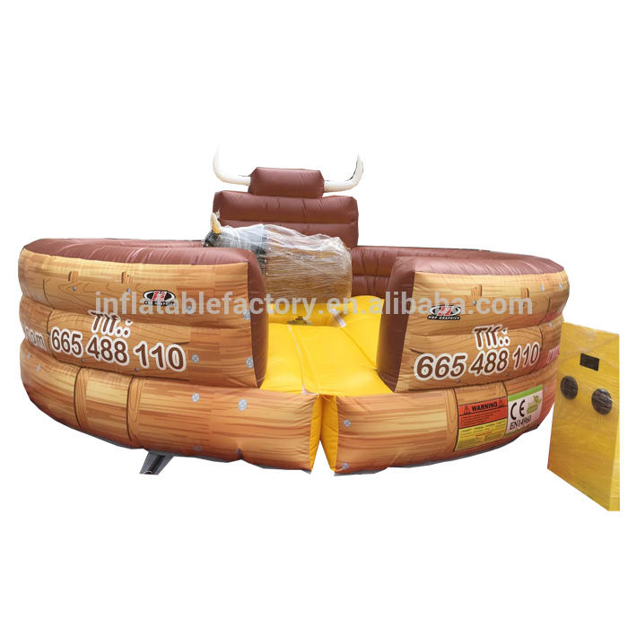 Amusement park games inflatable rodeo bull customize 5m inflatable bull riding , inflatable mechanical bull